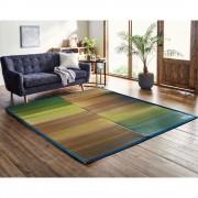 カイハラデニム縁/いぐさラグ191×191cm 池彦 ファブリック 【ライトアップショッピングクラブ】