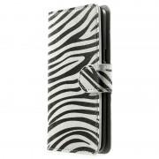 Capa em Pele Estilo Carteira Sofisticada para Samsung Galaxy Grand Prime - Zebra