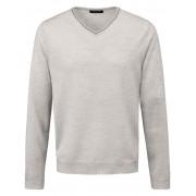Louis Sayn V-Pullover aus 100% Schurwolle Biella Yarn Louis Sayn blau