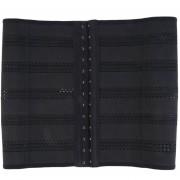 ER Las Mujeres Body Shaper Cintura Latex Corset Underbust Shapewear Cincher Formador XL-Negro