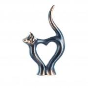 """Statueta bronz """"Inima pisica"""""""