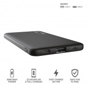 Power Bank, Trust Primo Fast, Ultra-thin, 5000mAh, Black (23596)