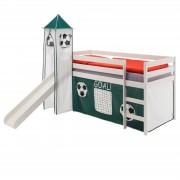 IDIMEX Rutschbett BENNY, Turm+Vorhang Fussball