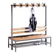 Dubbelzijdige garderobebank - Met schoenrooster