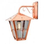 Wandlamp Fenix met rookkleurig glas neerwaarts