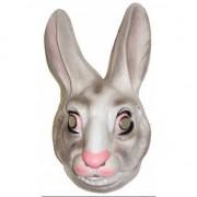 Merkloos Konijnen masker wit voor volwassenen