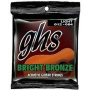 GHS Strings BB30L Bright Bronze 80/20 Copper-Zinc Alloy Acoustic Guitar Strings Light (.012-.054)