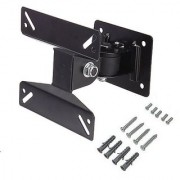 Techvik Movable Wall Mount Bracket Kit For 10-24 Inches LCD LED TFT Plasma TV Monitor Screen