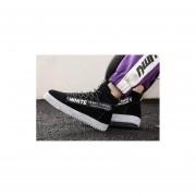 Zapatos casuales de los hombres coreanos blanco y negro