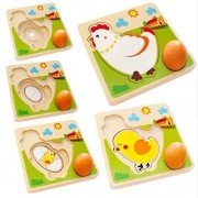 Baby Shelf - Montessori Puzzle by Chicken Growth Learning - Eco Friendly Wooden Puzzle Game