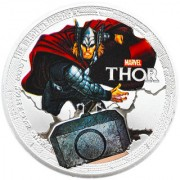 Marvel THOR Avengers Iron Man Silver Plated Coin in Capsule Box