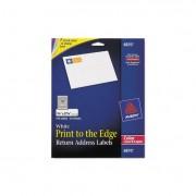 Vibrant Color-Printing Return Address Labels, 3/4 X 2 1/4, White, 750/pk