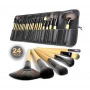 Brochas Maquillaje 24 Piezas Set Profesional Pelo De Cabra
