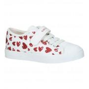 Geox Witte Sneakers met hartjes Geox