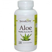 Ayurvedic Life Aloe capsule 400mg Hygenically grown Aloe vera powder 120 capsules for advanced healthcare
