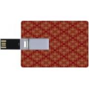 ShutterBugs Designer card shape pendrive | 16 GB Pendrive | Floral printed pendrive 16 GB Pen Drive(Red, Yellow)