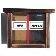 Anya / Apa - Tréfás persely