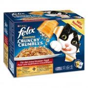 Felix Sensations Crunchy 10 x 100 g - Selección de pescado