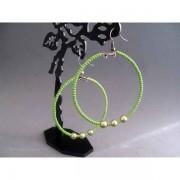 Cercei bijuterie circulari verzi