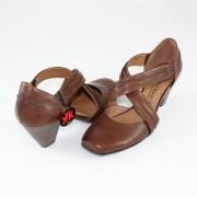 Pantofi piele naturala dama - maro, Marco Tozzi - toc mediu - 2-2-24413-24-363-Cafe-Antic