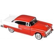 Motormax Premium American - Chevy Bel Air Hard Top (1955, 1/24 scale diecast model car, Red) 73229