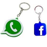 Combo of WhatsApp + Facebook Keychain