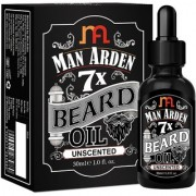 Man Arden 7X Beard Oil 30ml (Unscented) - 7 Premium Oils Blend For Beard Growth Nourishment