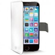 Celly Wallet Case, Vit/Grå - iPhone 6/6S