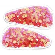 Roze haarclipjes met pailletten