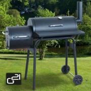 Kerti grillsütő és füstölő, két kamrás, BBQ Small 6390301