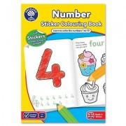 Carte de colorat cu activitati in limba engleza si abtibilduri Invata numerele NUMBER