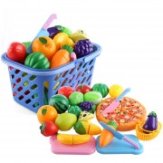 29Pcs Juguete De Corte De Verduras De Frutas 360DSC - Multicolor