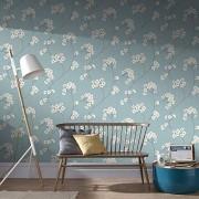 Graham & Brown 33-281 Radiance Wallpaper, Blue/Cream
