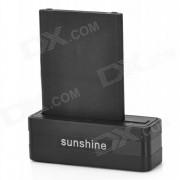 Sunshine bateria base de carga + 3.8V 3800mAh de la bateria + cable de carga para LG G3