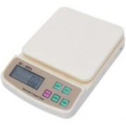 shop93 store Digital Plastic Kitchen Electronic Food Weight Scale (White, 10-inch, 10 kg) Weighing Scale(OFF_WHITE)
