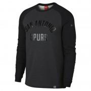 San Antonio Spurs Nike Modern NBA-Langarmoberteil mit Rundhalsausschnitt für Herren - Schwarz