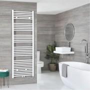 HudsonReed Sèche-serviettes électrique – Blanc – 178,5 cm x 60 cm - Neva
