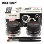 Music Flower Long Lasting Gel Eyeliner - Black + Brown
