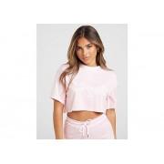 SikSilk Pinstripe Crop T-Shirt Dames - Pink