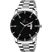 Jack Klein Black Dial Stylish Chain Day And Date Working Wrist Watch For Men