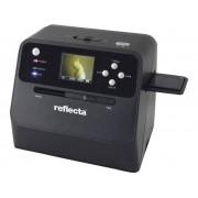 Reflecta Combo Album Scan Negatiefscanner, Diascanner, Fotoscanner 4416 x 2944 pix Werkt ook op batterij, Geïntegreerd display, Optimaal voor boeken,