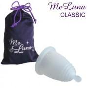 Менструална чашка MeLuna размер M Класик (Classic) Топче Бял