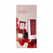 KORRES Set Crema de curățare exfoliantă de trandafiri sălbatici 150ml și cremă GRATUITĂ pentru prima zi de riduri 16ml