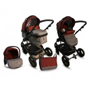 BBO Kolica za bebe MATRIX 3U1 crvena (CR0006)