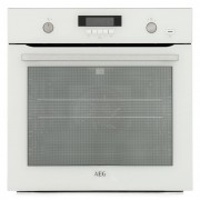 AEG BPS551020W Single Built In Electric Oven - White