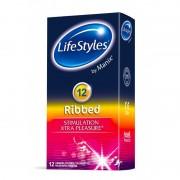 LifeStyles Ribbed 12 db redős felületű óvszer
