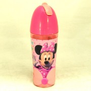 Minnie Mouse kulacs - szívószálas