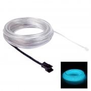 EL ijsblauw lichte waterdicht ronde flexibele auto Strip licht met stuurprogramma voor auto decoratie lengte: 5m