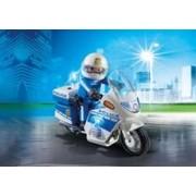 Playmobil Policía con Moto y Luces LED