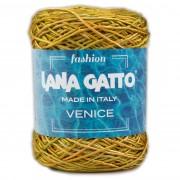 Lana Gatto VENICE kötő/horgoló fonal, viszkóz/pamut, 8891, Giallo